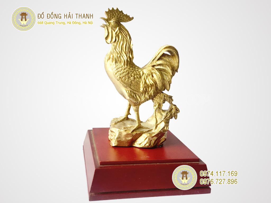 tượng gà bằng đồng phong thủy
